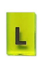 """Bleizeichen Buchstabe """"L"""" groß Linkszeichen Höhe: 15 mm"""