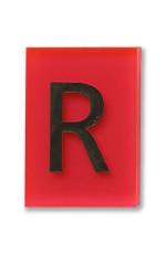 """Bleizeichen """"R"""" groß, mit Wunschtext"""